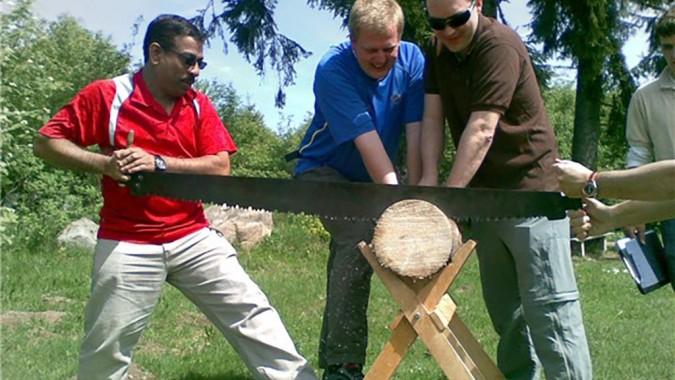 Holzfäller-Wettbewerb