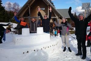 Schneeskulpturenbau