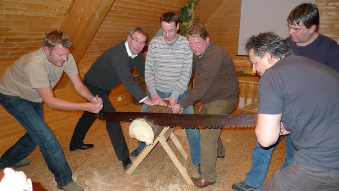 Holzfäller-Competition