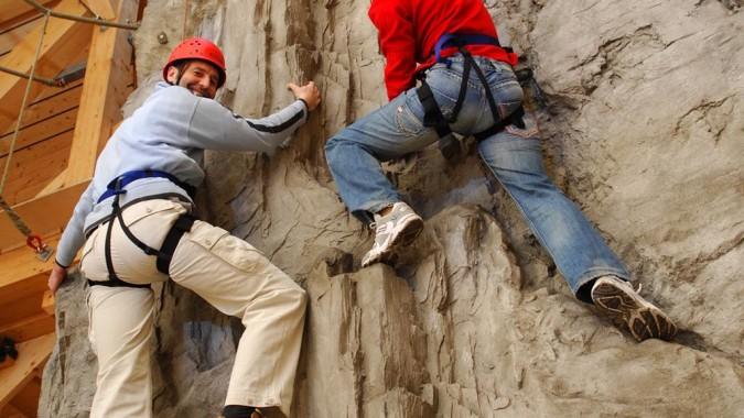 Klettern auf Zeit am Indoor-Fels