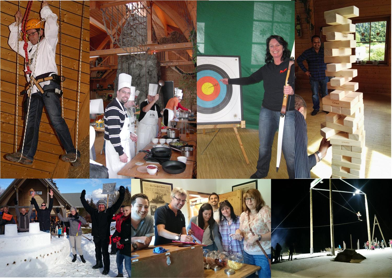 erlebnisreiche Winter Team-Aktivitäten für den Betriebsausflug