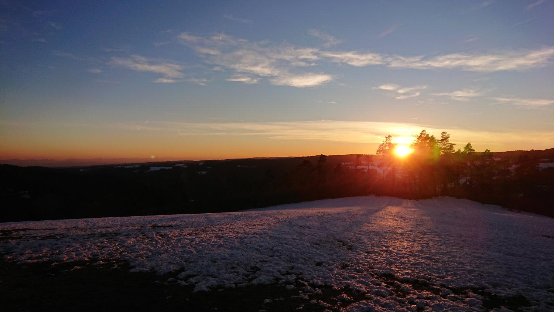 herrlicher Sonnenuntergang nach der Tagung in Höchenschwand